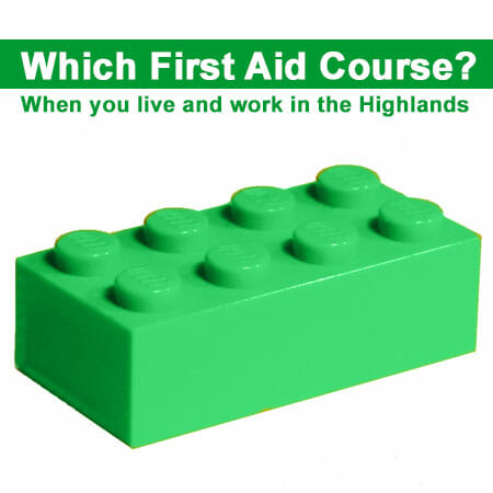Green lego brick and blog title