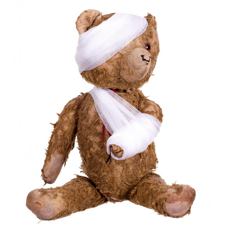Teddy bear with bandages