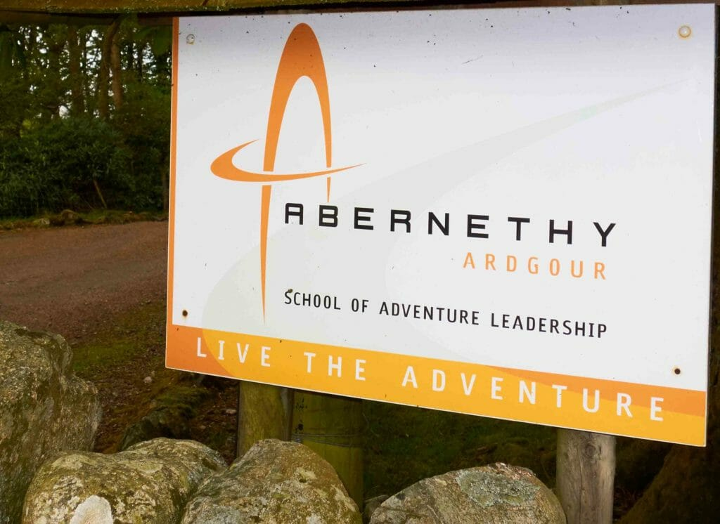 Sign to Abernethy School of Adventure Leadership