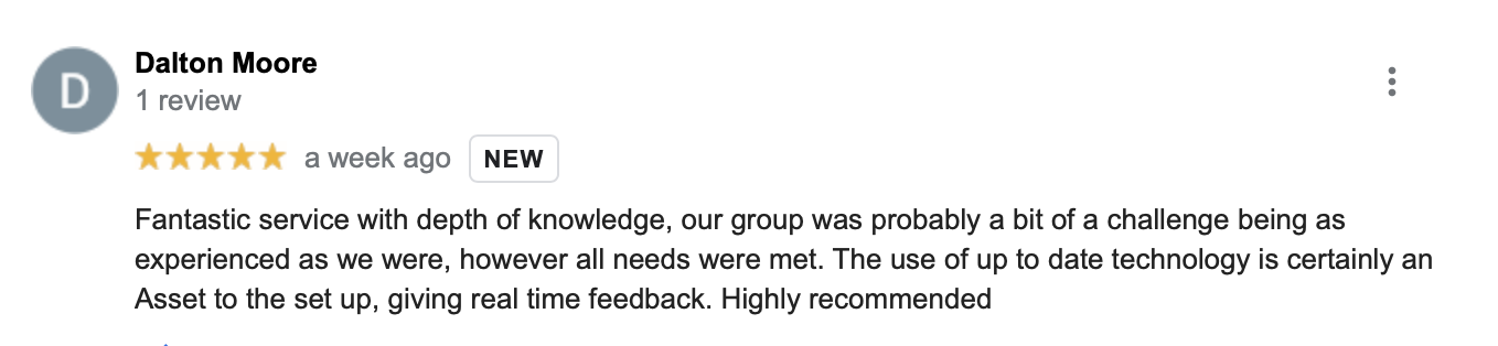 Google review for Highland First Aid